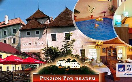 Pobyt pro dva v penzionu Pod Hradem s polopenzí a neomezeně vnitřní vyhřívaný bazén se slanou vodou! Malebná příroda, cyklostezky, rašeliniště, advent v Rakousku a mnohem více!! Vytoužený relax za skvělou cenu