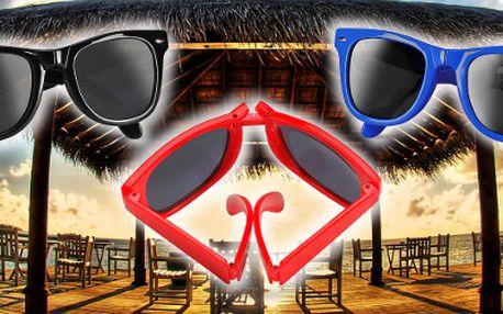99,- za retro vintage skládací sluneční brýle ve čtyřech barvách!