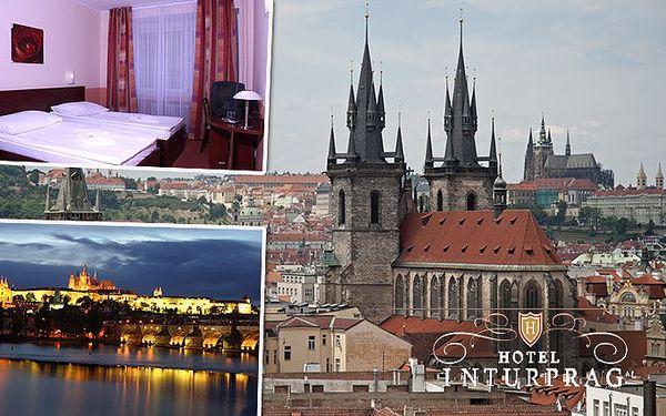 3denní pobyt pro 2 osoby v pražském hotelu Inturprag