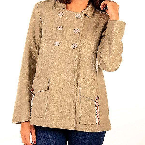 Dámský krátký béžový kabátek Tonala