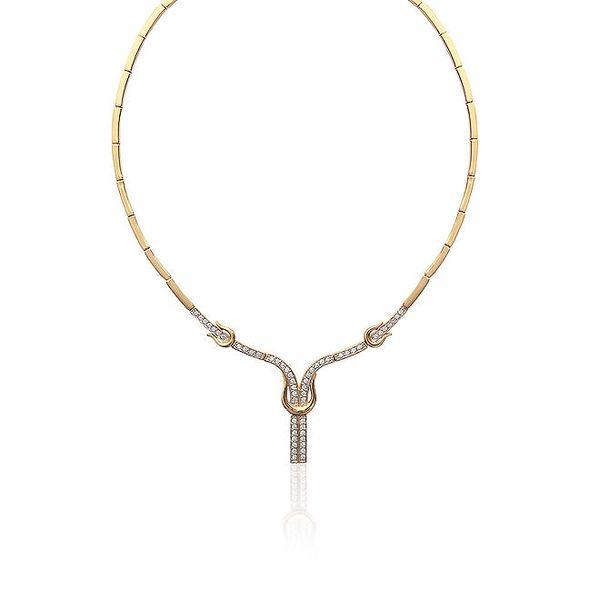 Dámský pozlacený náhrdelník v egyptském stylu La Mimossa