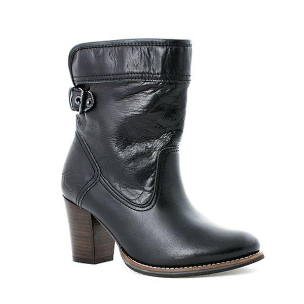 Černé kožené kozačky Ankle Boot II