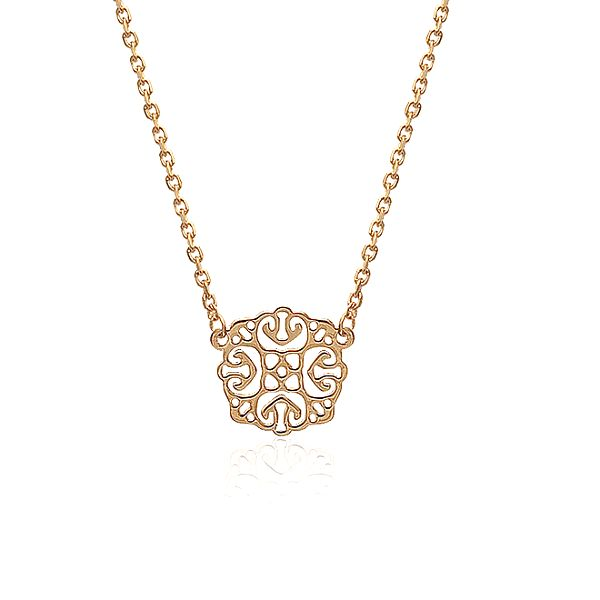 Dámský pozlacený náhrdelník s ornamentálním přívěskem La Mimossa
