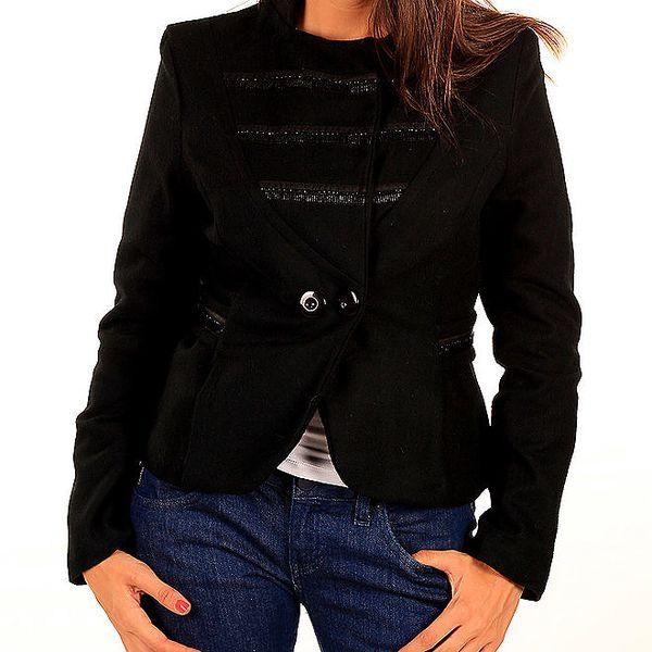Dámské černé sako s páskem Tonala