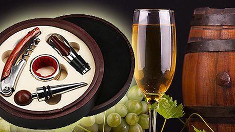 Elegantní sada na víno je dárek vhodný pro všechny milovníky dobrého vína! Vhodné pro MUŽE i ŽENY! Výborný dárek i pro přátele. Nakupujte chytře dopředu!