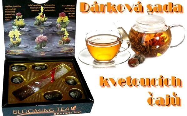 Dárková kolekce květinových čajů s kandysem !