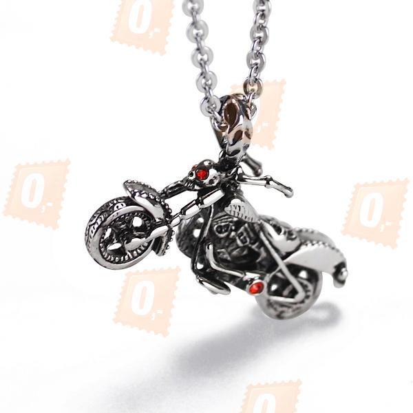 Řetízek s přívěskem ve tvaru motorky a poštovné ZDARMA! - 30204601