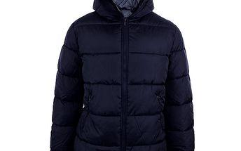 Pánská tmavě modrá bunda Sisley s šedou podšívkou