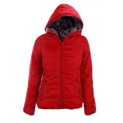 Dámská červená bunda Sisley s šedou podšívkou