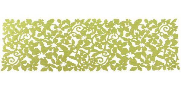 Plstěný ubrusový běhoun Ambition, 100 x 30 cm, Zeko trade, zelená