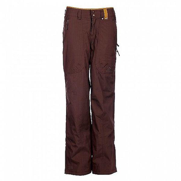 Dámské tmavě hnědé snowboardové kalhoty Fundango s membránou