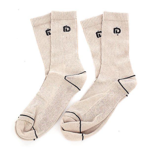 Pánské béžové ponožky s černými detaily Fundango - 6 párů