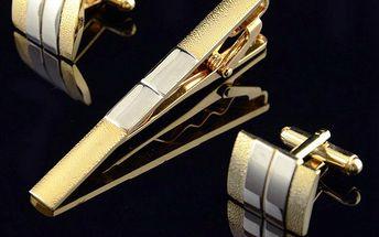 Sada spony na kravatu a manžetových knoflíčků a poštovné ZDARMA! - 30505588