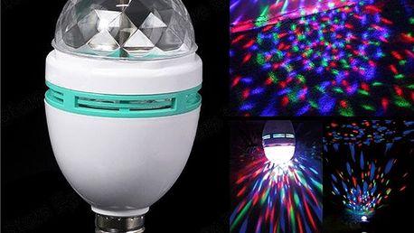 Rotační LED žárovka s RGB barvami - 6 W a poštovné ZDARMA! - 30105593