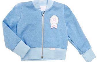 Modrá mikinka na zip