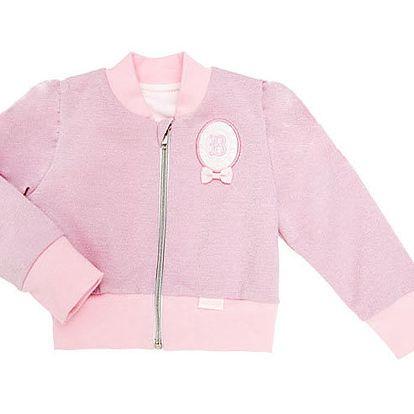 Růžová mikinka na zip