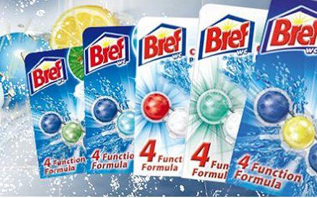 10x Balení Bref Power Aktiv, který ničí až 99% bakterií v toaletě a navíc krásně voní! Neuvěřitelná sleva! Nová generace WC bloků!