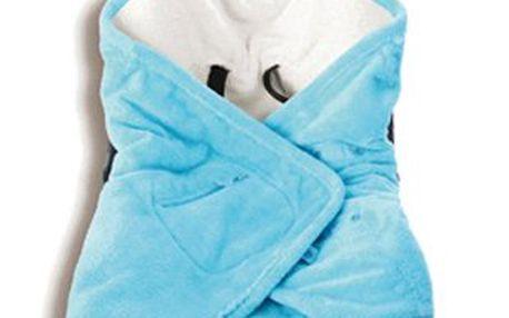 BabyBoum Univerzální rychlozavinovačka SOFTY 5tibodová, Azur vyrobena z měkkého, kvalitního SOFTY materiálu
