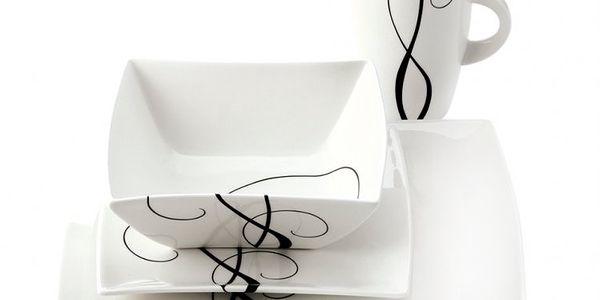 Maxwell & Williams krásná jídelní souprava White Basics Breeze obsahující 16 ks