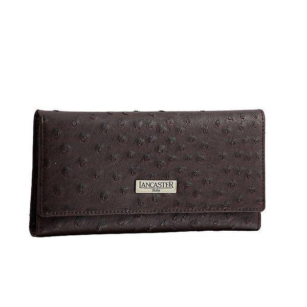 Dámská podlouhlá čokoládová peněženka Lancaster