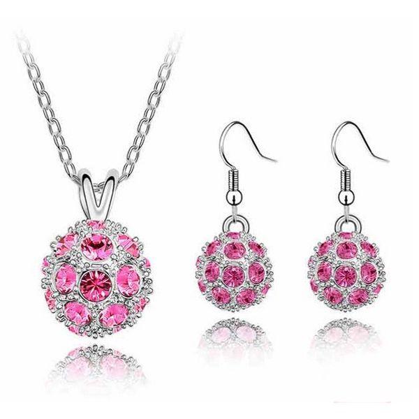 Set elegantních šperků - náušnice a náhrdelník, 6 barev a poštovné ZDARMA! - 36004849
