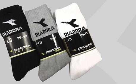 Značkové ponožky Diadora – 50% sleva