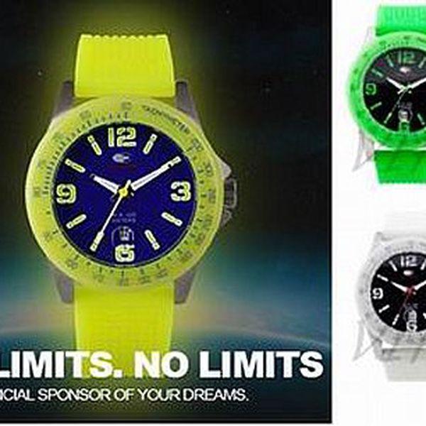 Značkové hodinky No Limitsjsou ideálním doplňkem pro mladé lidi, díky nádherným módním barvám.Svítí ve tmě! Možná i barevná nesvítící varianta.