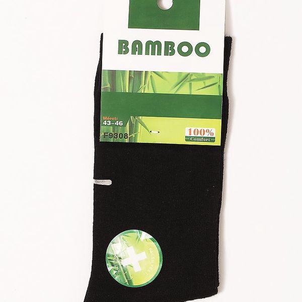 Pánské ponožky z bambusového vlákna - zdravotní lem