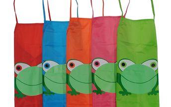 Dětské zástěrky se žabkou v pěti barvách a poštovné ZDARMA! - 32502433