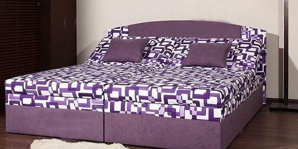 Čalouněná manželská postel s úložným prostorem