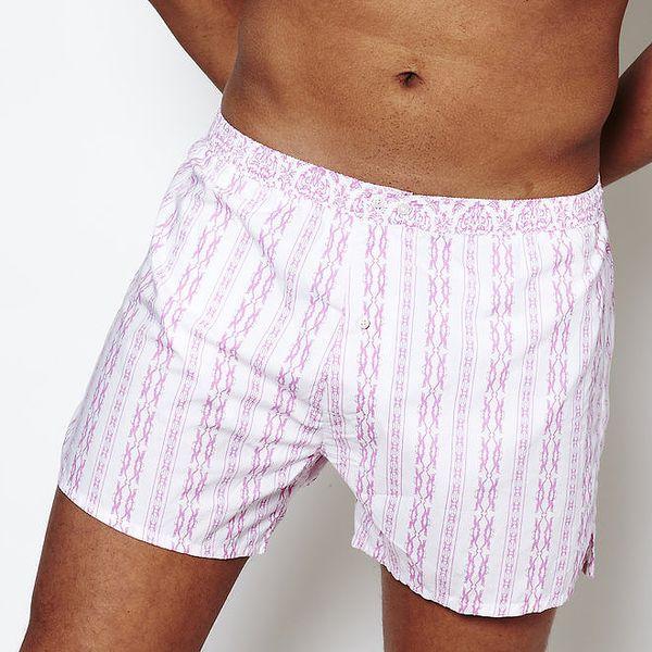 Pánské bílé trenýrky se sexy růžovým potiskem Color Code