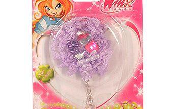 Gumička do vlasů Winx Club Gumička do vlasů s řetízkem WinX fialová
