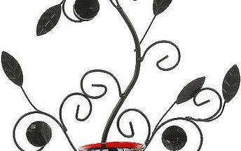Svícen Sunchi 5905-bush stojánek červená