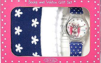 Dárkový set Me to You Dárkový set hodinky + ponožky