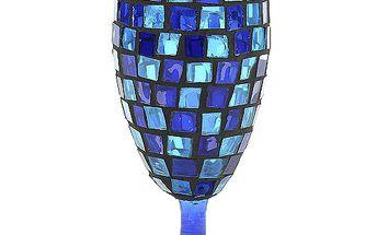 Svícen Sunchi 571-Svícen zámecký kalich modrá