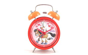 Kvalitní budíček pro příjemnější probuzení Diddl & Friends Budík červený Galupy & Diddlina