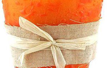 Svíčka Sunchi 6468 Váza II. oranžová skořice