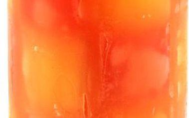 Svíčka Sunchi 6438 Šachovnice duha oranžová pomeranč-skořice