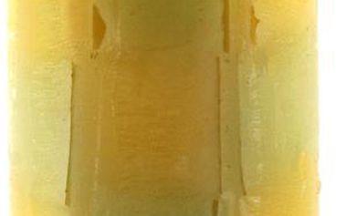 Svíčka Sunchi 6438 Šachovnice duha žlutozelená vanilka