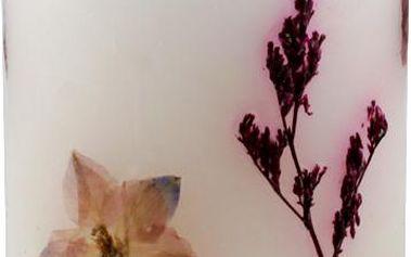 Svíčka Sunchi 6443 Suché květy bílá