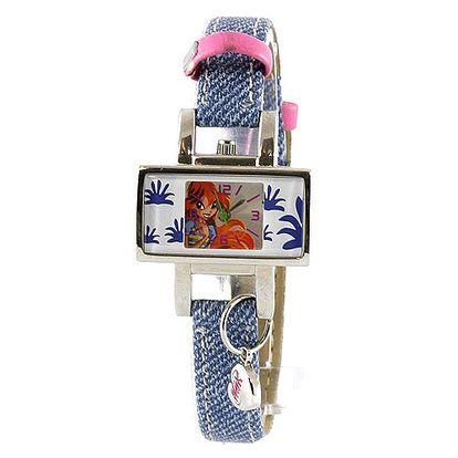 Trendové hodinky s malým přívěskem a motivem víly Bloom z kolekce Winx Club