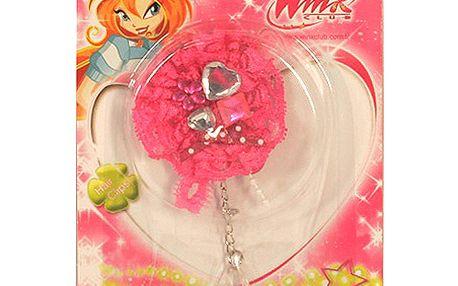 Gumička do vlasů Winx Club Gumička do vlasů s řetízkem WinX tmavě růžová
