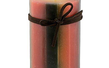 Svíčka Sunchi 6446 Pruhy II. oranžovočerná lesní směs