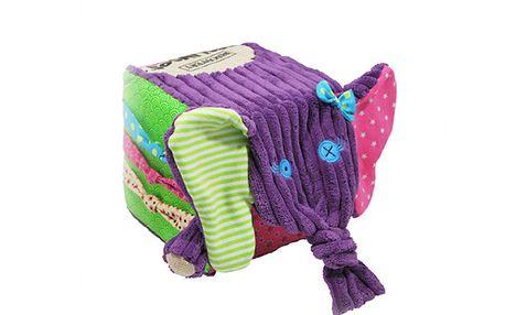 Poznávací kostka slon Sandykilos - výborný způsob, jak nabídnout dětem mnoho podnětů současně
