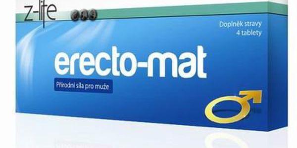 ERECTO-MAT - 4 ks tablet! Zvyšte své libido a sexuální touhu! Účinky prokázány u mužů všeho věku! Nezařaďte se mezi většinu mužů v ČR!