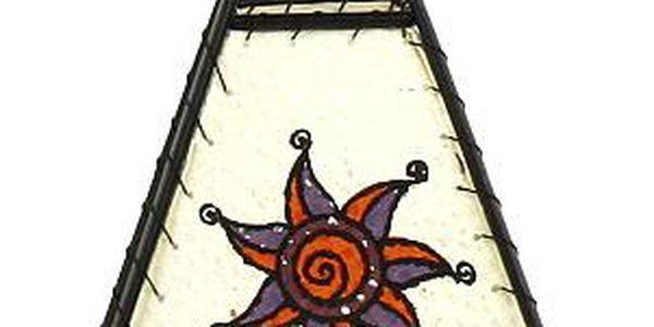 Svícen Sunchi 829-Indian TP s obrázkem fialový kruh