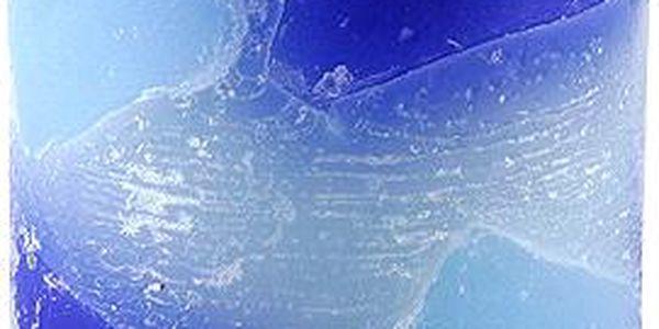 Svíčka Sunchi 6449 Žulomramor modrá oceán