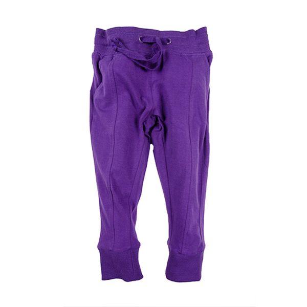 Fialové kalhoty na šňůrku