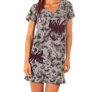 Dámské šedo-fialové šaty s motýly Ada Gatti