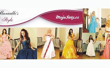 Poukaz na slevu ve výši 1000 Kč z půjčovného NÁDHERNÝCH společenských šatů za pouhých 99 Kč! Blíží se ples či jiná společenská událost? Ušetřete za půjčovné!
